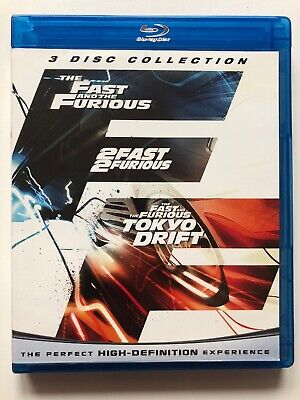 The Fast and the Furious / 2 Fast 2 Furious / Tokyo Drift (Blu-ray, 3-disc)