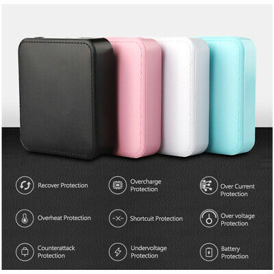 10000mAh Leather Bound USB Mini Power Bank Portable Charger Android Mobile