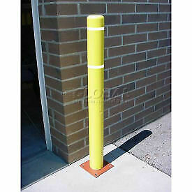 """4""""x 52"""" Bollard Cover - Yellow Cover/White Tapes BC452-YW  - 1 Each"""