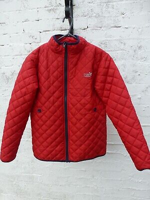 Muddy Puddles. Girls red, quilted Jacket / Coat. 11-12 Years. VGC