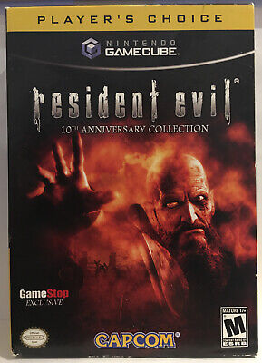 Resident Evil: 10th Anniversary Edition (Nintendo GameCube) COMPLETE Box & Games