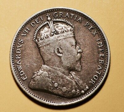 1906 Canadian 25 Cent Coin