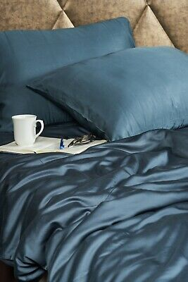 Bamboo emperor size bed duvet cover. 100% bamboo, teal. Antibacterial