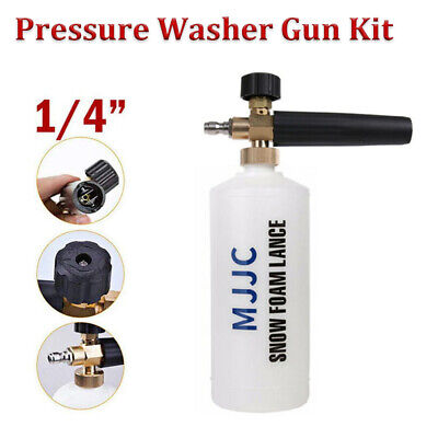 "1/4"" Quick Connector MJJC 1L Snow Foam Lance Cannon Pressure Washer Bottle Gun"