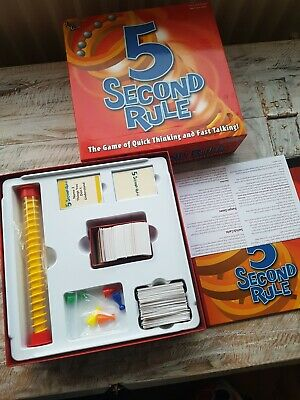 Family board  Game 5 Second Rule Game Quick Thinking Fast Talking