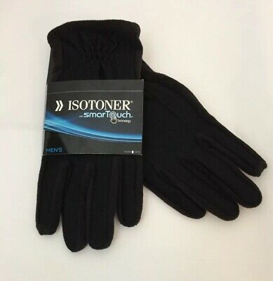 Men's ISOTONER smarTouch Touchscreen Compatible Gloves 700M1 Black Size L NEW