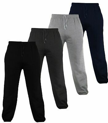 Men's Fleece Joggers Jogging Tracksuit Bottoms (Elasticated) Cuffed Trousers