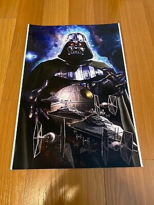 Greg Horn Comic Kunst Lithographie Aufdruck Star Wars Darth B 13x19 Seltener Es