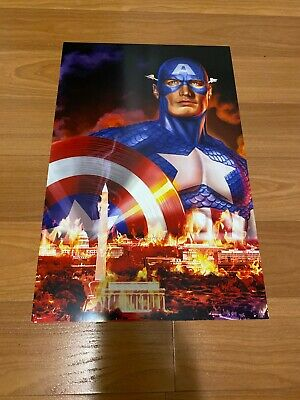 Greg Horn Comic Kunstdruck Captain America USA Dc Marvel Comics 11x17 Selten
