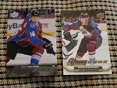 2015-16 Mikko Rantanen Upper Deck Young Guns And Young Guns Canvas Rookies! 🔥🔥