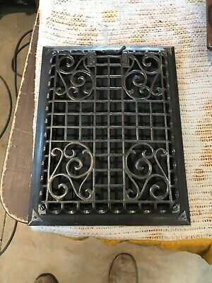 TK 24 Antique wall mount heating grate 10.75 x 13.75