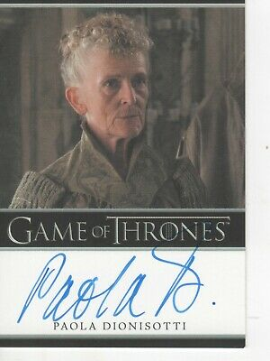 Game of Thrones- SEASON 7 - BORDERED AUTOGRAPH CARD - PAOLA DIONISOTTI