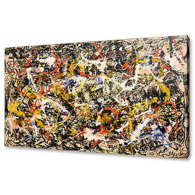 Jackson Pollock Convergence Canvas Picture Print Modern Wall Art Free Uk P&P