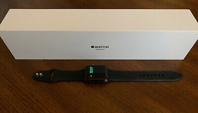 Apple Watch Series 3 42mm Space Gray Aluminum Black Sports Band GPS + Cellular
