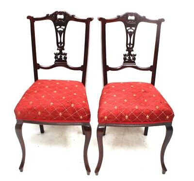 A pair of Antique Chippendale Mahogany Dining Chairs [5784A]