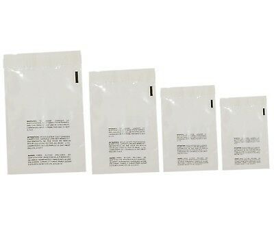 400 Clear Poly Bags Combo Pack with Suffocation Warning - 6x9, 8x10, 9x12, 10x13