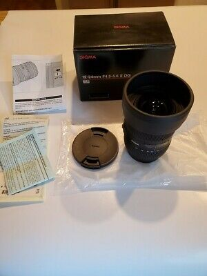 Sigma 12-24mm f/4.5-5.6 II DG HSM Super Wide-Angle Zoom Lens for Sony Alpha