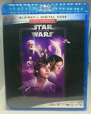 Star Wars Episode IV: A New Hope BLU-RAY ONLY!!! NO DIGITAL