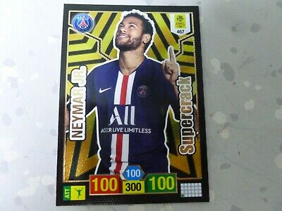 Panini Adrenalyn Xl Ligue 1 2019-2020 Supercrack 467 Neymar Jr Psg