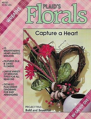 Plaid's Florals Heart Shaped Wreath Making Craft Book