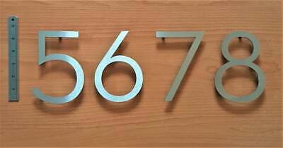 """""""New"""" Large floating house numbers solid brushed stainless steel modern 6""""/150mm"""