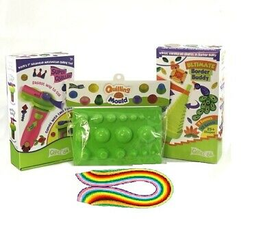 Quilling starter kit set - Quilling tools - border buddy, super quiller, mould