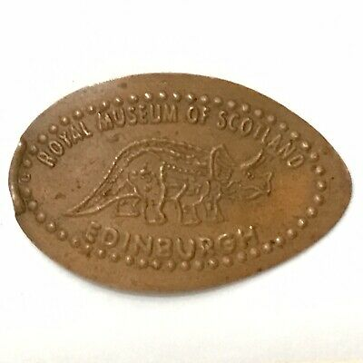 'Royal Museum Of Scotland, Edinburgh' Dinosaur 1p Elongated Coin One Pence Penny