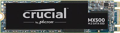 Crucial MX500 CT500MX500SSD4 500GB Internal SSD (3D NAND, SATA, M.2 Type 2280SS)
