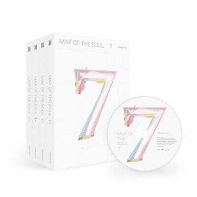 BTS-[Map Of The Soul 7]CD+PhotoBook+Lyric+Mini Book+Card+Post+Sticker+Paper+Gift
