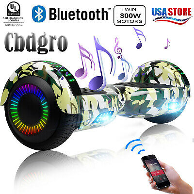 """Bluetooth Hoverboard 6.5"""" UL LED Electric Self Balancing Scooter Bag Camouflage"""