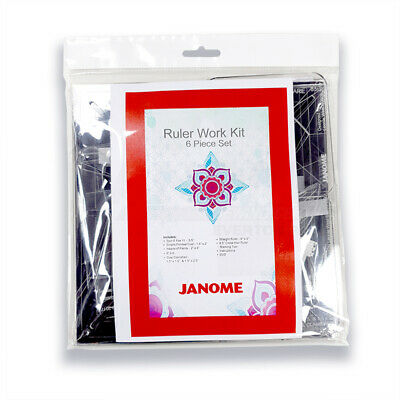JANOME Ruler Work Kit Templates - by Leonie Westalee Machine Quilting Design