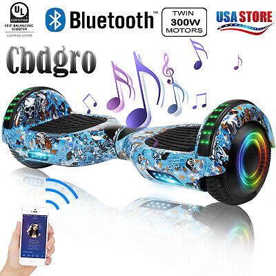 "6.5"" Bluetooth Hoverboard LED 2-Wheel Self Balance Electric Scooter UL2272 W Bag"