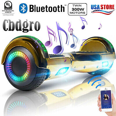 """6.5"""" Scooter UL2722 Bluetooth Hoverboard Electric Self Balancing Bag Wheel Gold"""
