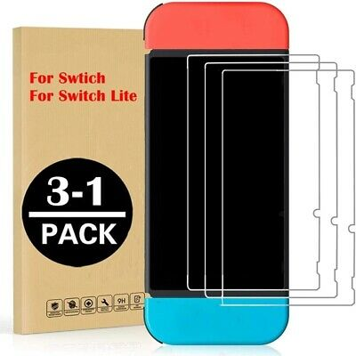 Lot For Nintendo Switch Ultra Clear Slim Premium Tempered Glass Screen Protector