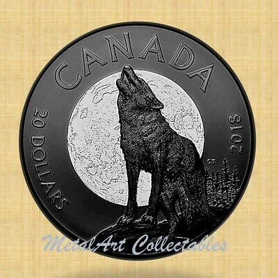 Cunning Cougar 2018 Canada 1 oz Silver $20 Nocturnal By Nature SKU#172266