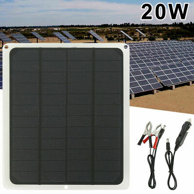 20W 12V Car Boat Yacht Solar Trickle Panel Battery Charger Power Supply Outdoor