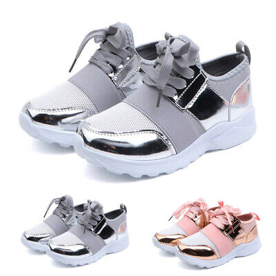 Infant Kids Baby Boys Girls Mesh Casual Sports Running Shoes Lace-Up Sneakers P