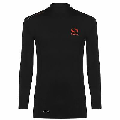 Sondico SondiTherm Baselayer Shirt Mens Black Football Soccer Compression Top
