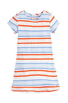 Joules Girls Riviera Dress in Blue Multi Stripe - BNWT - Age 6/11-12- RRP £21.95