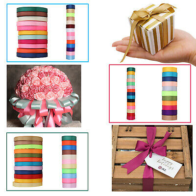 Single Sided Satin Ribbon Rolls Reels 10mm 25mm 38mm Width 300 Meters for Crafts