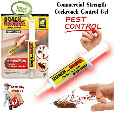 Roach Doctor Pest Control Cockroach Gel Bait Syringe Tip Indoor Outdoor Use