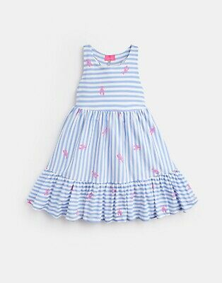Joules Girls Juno Dress in Blue Lobster Stripe - BNWT - Age 4/11-12 - RRP £24.95