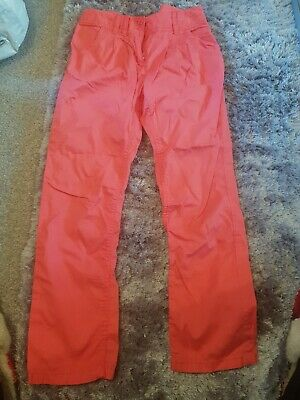 next age 10-11 coral lightweight chino trousers
