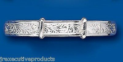 Baby Bangle Solid Silver 18 months - 3 years Patterned baby Bracelet Christening