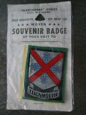Teignmouth Woven Cloth Patch Badge (L29S)