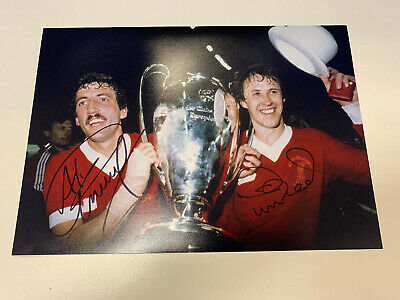 Phil Neal Alan Kennedy Hand Signed Liverpool European Cup Photo A4