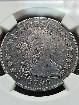 1796 Draped Bust Half Dollar, Rare 16 Stars, Pcgs Vf Details, Very Rare Date!