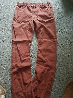 marks and spencer age 11-12 rust chinos