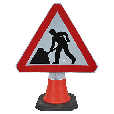 Men At Work 750mm Triangle Hangman Sign (Single Cone) 7001