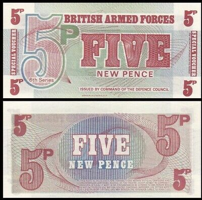 20 Pcs LOT 1972 5 New Pence Great Britain UNC P-M47 British Armed Forced